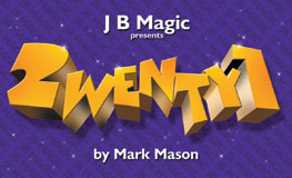 Twenty1 by Mark Mason with DVD