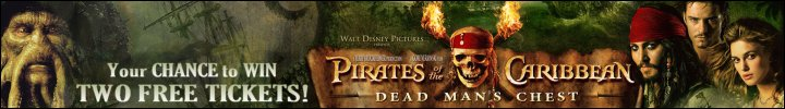 WIN two FREE Pirates of the Caribbean Movie Tickets!
